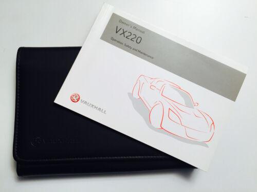 VAUXHALL VX220 Owners Handbook Manual Pack Genuine New