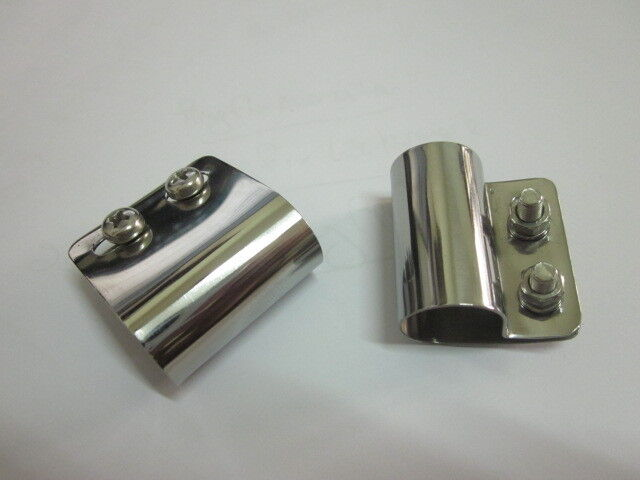 Badges & Mascots 2 X Stainless Desmo Style Badge Bar Clips 19mm For Renamel Etc Top Quality Br19