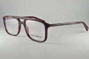 77c239da8e69 Dolce   Gabbana Eyeglasses DG 3267 3093 Striped Red On Bordeaux ...