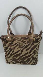 Anne-Klein-Animal-Print-2-Straps-Satchel-Handbag-Shoulder-bag-In-Good-Condition
