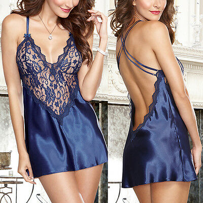 Sexy Womens Lace Lingerie Dress Nightwear Underwear Babydoll Sleepwear Chemise