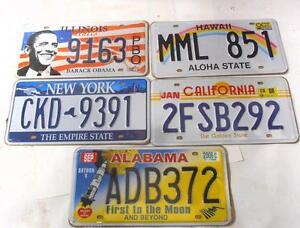 OFERTA-lote-de-5-Placas-Chapas-de-Matriculas-Americanas-Decorativa-Metalalicas