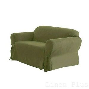 1 pc sage green soft micro suede couch sofa slip cover new