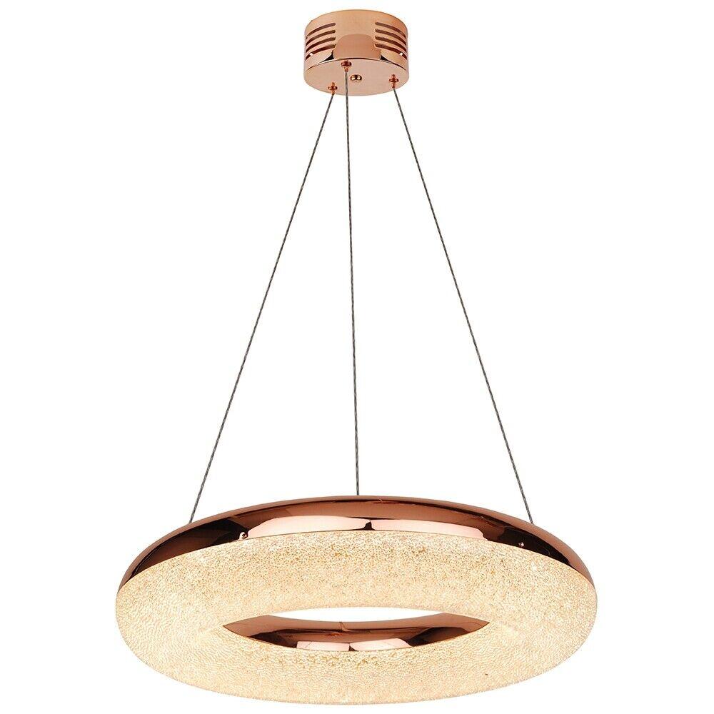 Pagazzi Lighting Chase Ring LED Pendant Ceiling Light Copper XXX6345