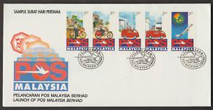 (F164)MALAYSIA 1992 LAUNCH OF POS MALAYSIA FDC