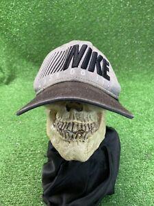 Vintage 90s Nike Snapback Just Do It Hat Cap Gray Black