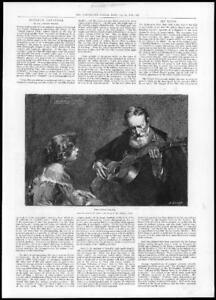 1897-Antique-Print-Fine-Art-Guitar-Player-Modesto-Texidor-Paris-254