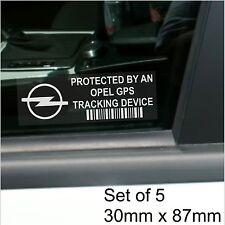 5 x Opel GPS Tracking Device Security Window Stickers-Car Alarm Tracker