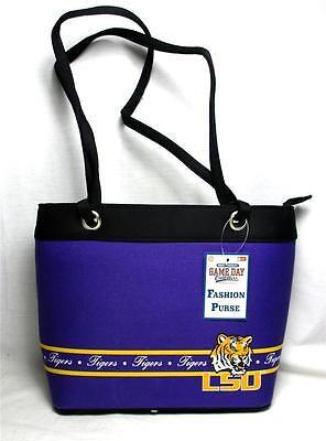 LSU Tigers Ladies Bandwidth Fashion Purse Louisiana Tote Handbag Game Day #23296