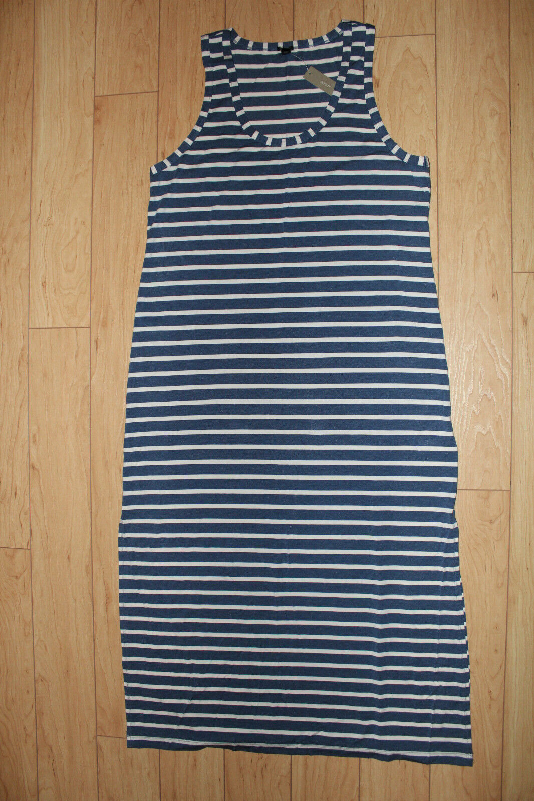 J.Crew Maxi Tank Dress in Stripe Various colors Size X-Large NWT
