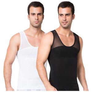 aed4146d80 Image is loading ZEROBODYS-Mens-Body-Shaper-Vest-Compression-Shirt-Ultra-