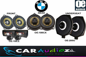 Details about STRAIGHT FIT UPGRADE BMW 5 Series E60 E61 SPEAKERS SET FRONT  REAR UNDERSEAT