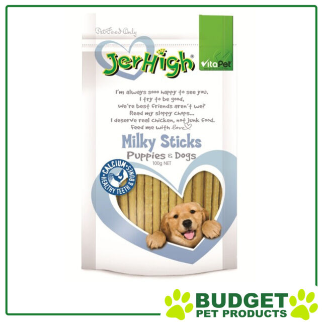 Vitapet Jerhigh Milky Sticks Treats For Puppies And Dogs 100g