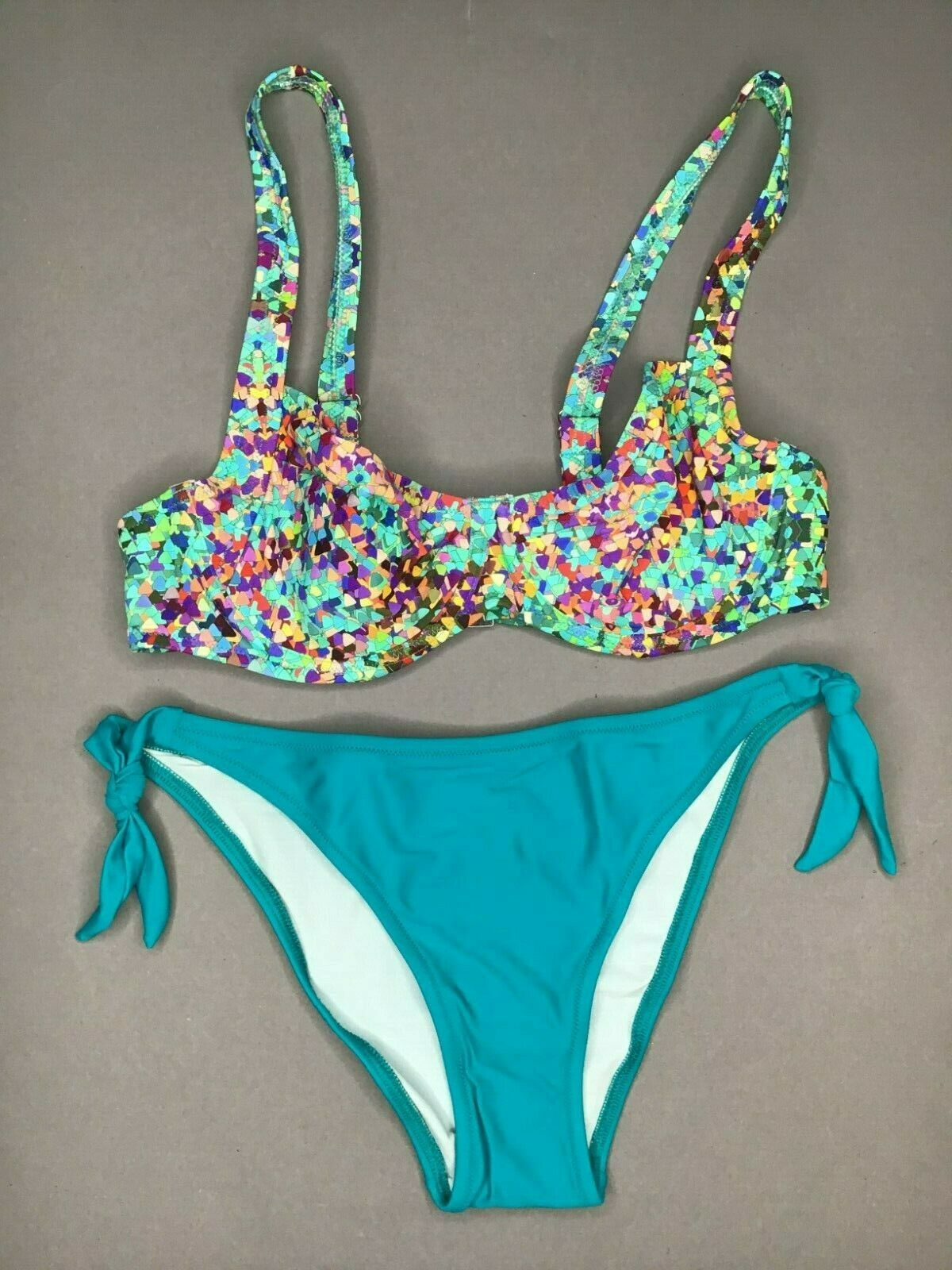 Jolidon Womens Bikini Set FS2172 ungepolstert UNDERWIRED MULTI-COLOURED NEW