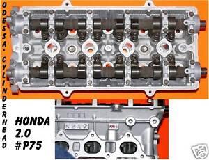 Image Is Loading Honda Crv 2 0 Dohc P75 Cylinder Head