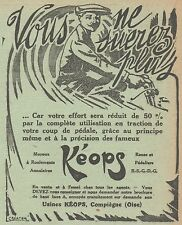 Z8511 Moyeux KEOPS - Pubblicità d'epoca - 1913 Old advertising