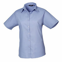 Ladies Womens Short Sleeve Blouse Shirt Business Work Top Size 6-26 Free PnP