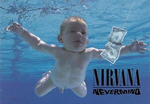 NIRVANA HFL1084 30x40 WALL HANGING NEVERMIND FABRIC POSTER