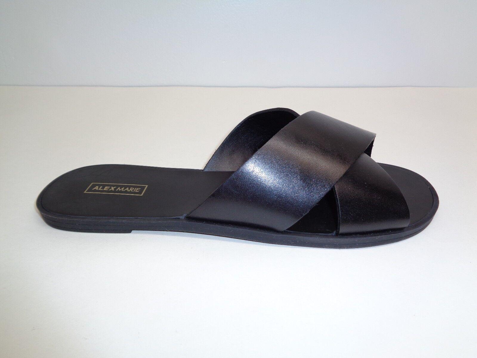 Alex Marie Size 6.5 M KALYN Black Leather Crisscross Sandals New Womens shoes
