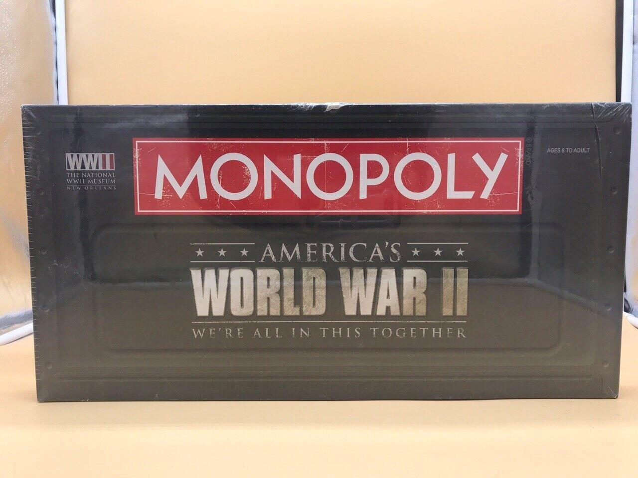 MONOPOLY AMERICAN WORLD WAR II WW2 MONOPOLIO GUERRA MUNDIAL VERY RARE NEW