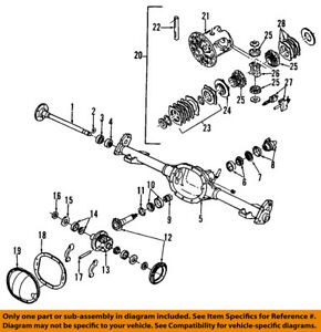 gm oem rear axle shaft bearings 12471606 ebayimage is loading gm oem rear axle shaft bearings 12471606