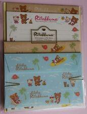HTF San-x Rilakkuma Aloha Kawaii Letter Set Stationery Japan Stationery