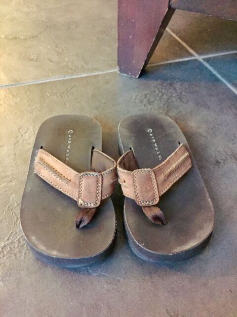 2d2a8194f Boys Airwalk Brown Thongs Sandals Flip Flops Size 2