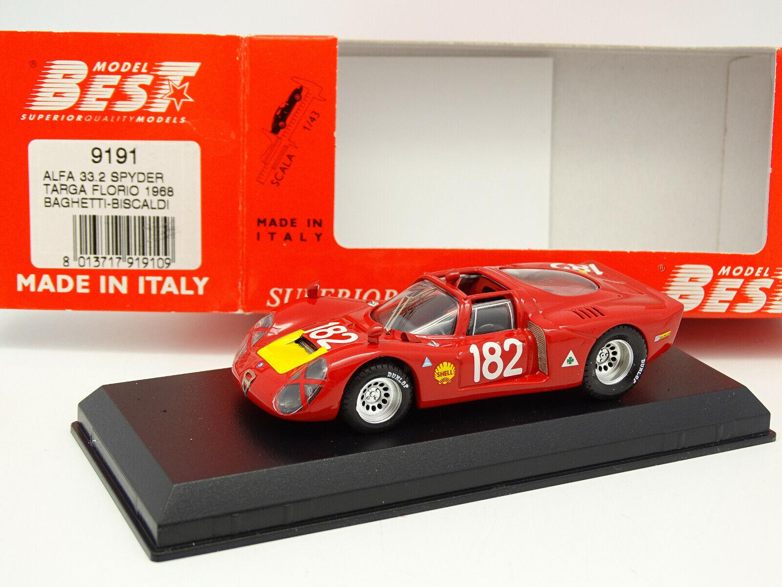 Best 1 43 - Alfa Romeo 33.2 Spyder Targa Florio 1968 N.182