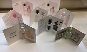 8 x Parfum Phiolen Guerlain,Chanel,Omnia,Versace u. a. alle noch Voll (Vintage)