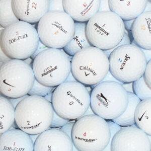 Branded-amp-Value-Mix-of-White-Lake-Golf-Balls-50-or-100-Balls