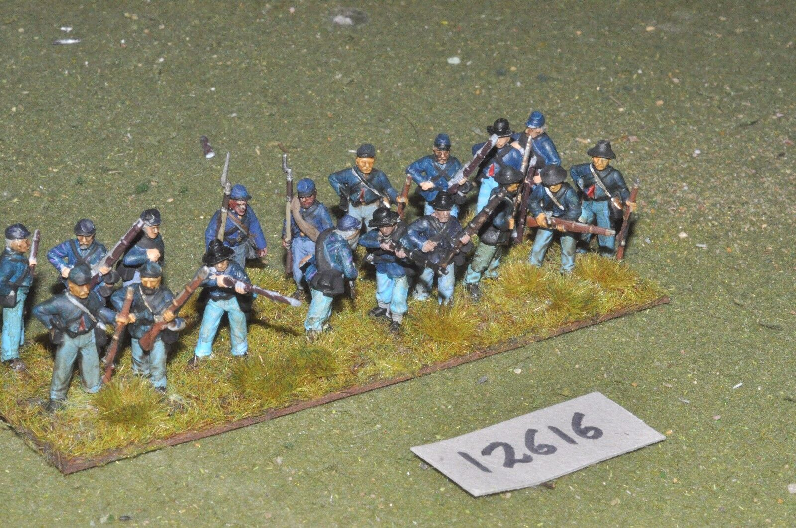 25mm ACW   union - american civil war infantry plastic 17 figs - inf (12616)