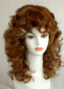 Details About Curly Below Shoulder Length Wig W Bangs Dolly Parton Hairstyle 80 S Look