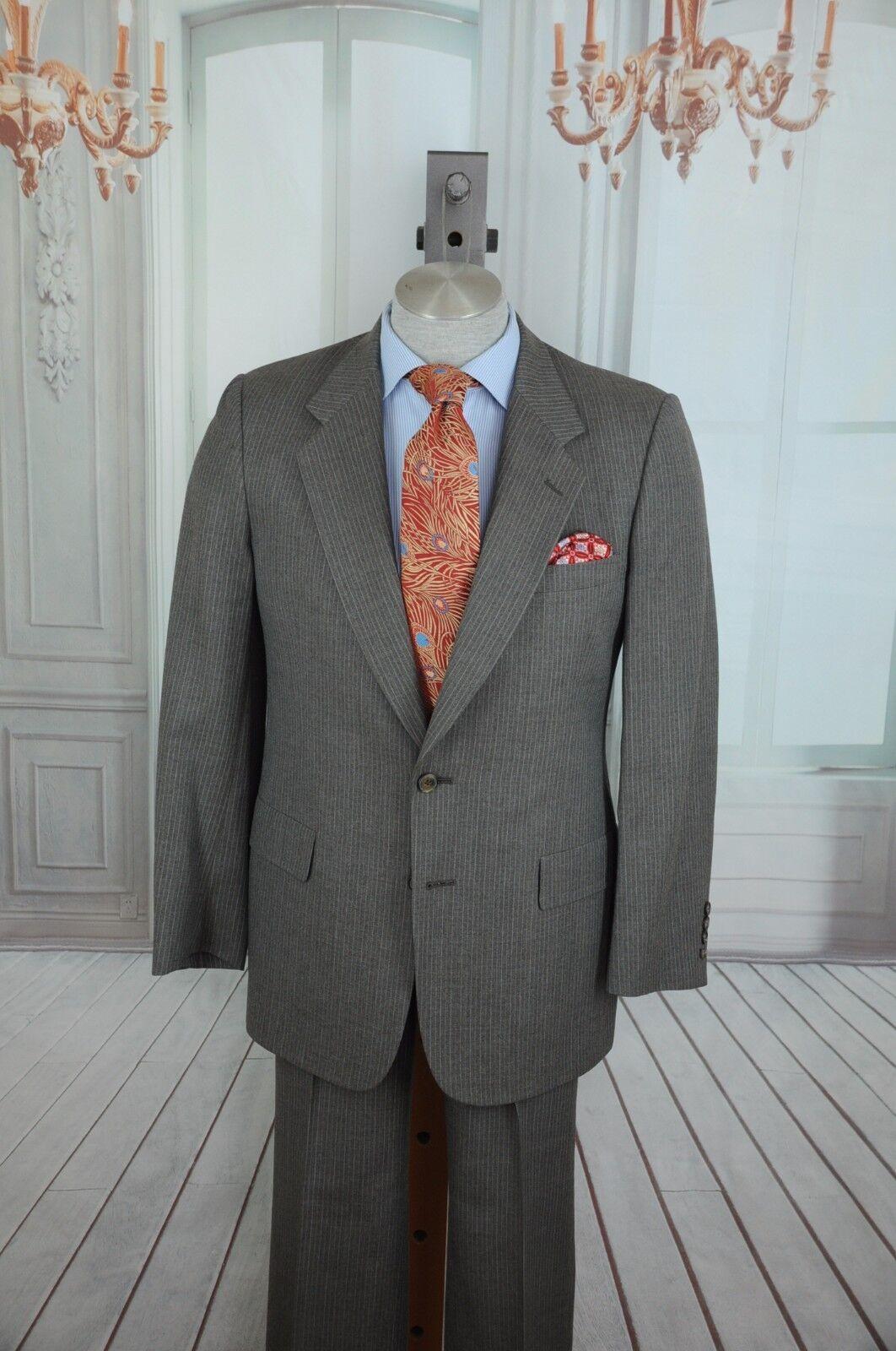 Christin Dior Minsieur Herren Grau Gestreift Wollanzug 40R 40 R   | Vorzüglich  | Modern Und Elegant In Der Mode  | Ausgezeichneter Wert