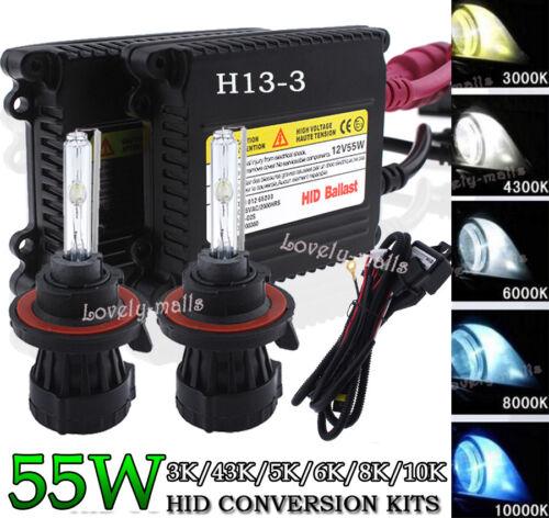 55W Car HID Xenon Conversion KIT Hi//Low Beam Bi-xenon 9007 H13 FIT Ford F-150 LQ