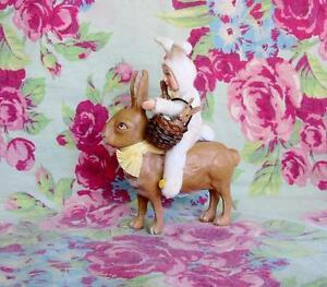 Bethany Lowe Bunny Easter Parade Sweet Girl Riding Rabbit Vickie Smyers