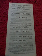 VINTAGE BOXING POSTER - SUTTON -IN -ASHFIELD