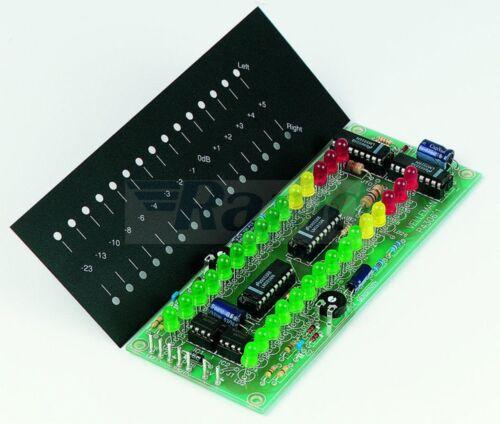 Velleman K4306 précision stéréo VU Meter Kit