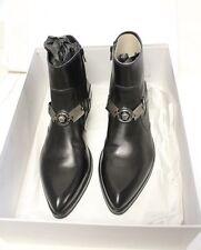 Versace Men's Black Leather Medusa Boots size 39 #4230