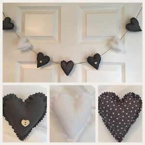 Astonishing Details About Handmade Shabby Chic Heart Wedding Nursery Garland Bunting Home Interior And Landscaping Ponolsignezvosmurscom