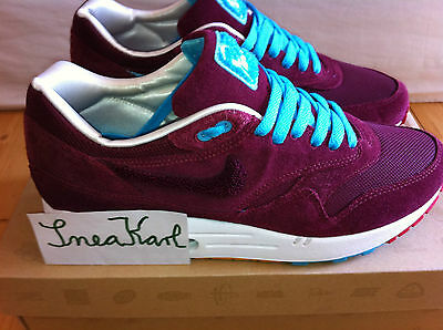 nice shoes amazing price to buy Nike Air Max 1 Patta x Parra burgundy 9,5 43 TZ atmos beast ...