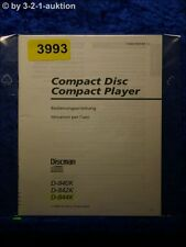 Sony Bedienungsanleitung D 840K /842K /844K CD Player (#3993)