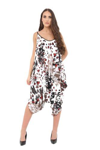 Womens V Neck All In One Baggy Langlook Drape Floral Jumpsuit Romper Harem Suit