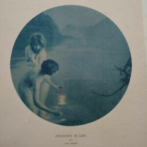 Heliogravure Paul Chabas Pecheuses de lune symbolisme vers 1900 signée