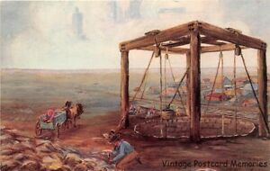 GREENSBURG-KS-1962-The-World-039-s-Largest-Hand-Dug-Well-painting-by-Dorine-Lewis