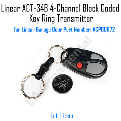 LINEAR ACT-34B Transmitter Garage Door Opener Remote