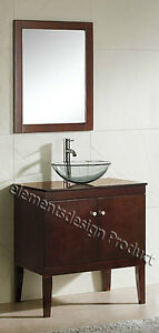 30 Bathroom Vanity 30 Inch Cabinet Blacktop Vessel Sink Faucet