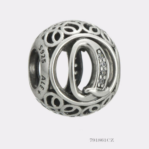 New Authentic Pandora Charm Letter Q  791861cz P