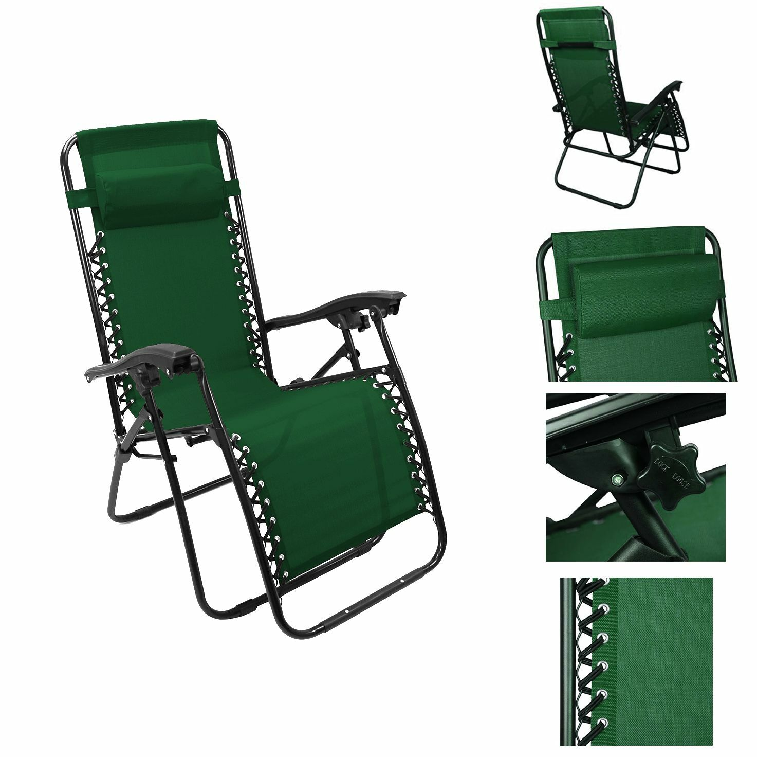 chair recliner reclining patio pool beach outdoor folding chair 1pc