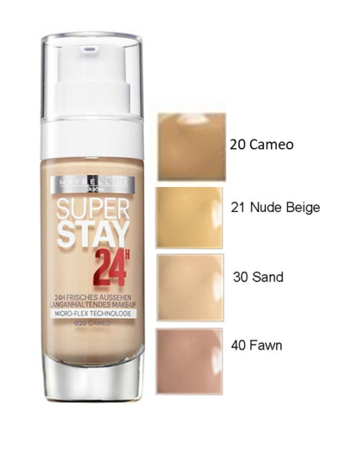 maybelline 24 hour foundation