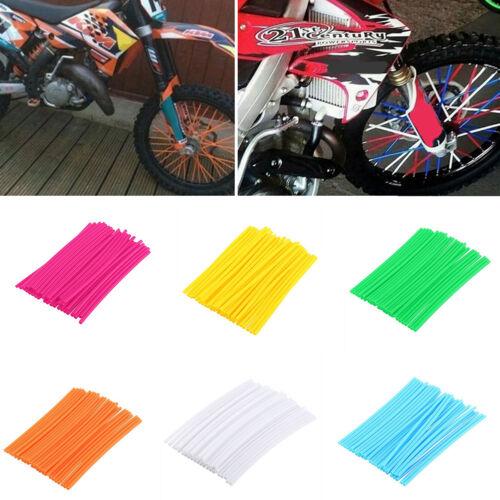 EG/_ 36Pcs Motorcycle Bike Wheel Spoke Wraps Rims Skin Cover Decor Grac